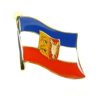 Flaggen Pin Schleswig Holstein Anstecknadel Fahne Flagge FLAGGENMAE®