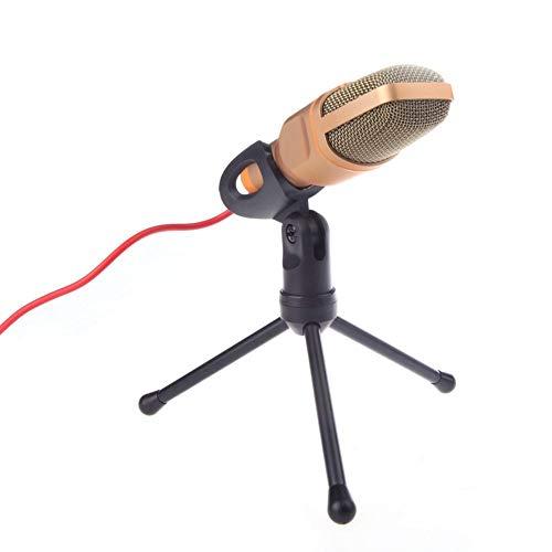 ZY123 Micrófono de computadora de 3.5 mm Red de computadora Micrófono de Chat de Altavoz con Soporte para discurso de Conferencia en línea