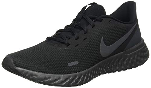 Nike Revolution 5, Zapatillas de Atletismo Hombre, Multicolor (Black/Anthracite 001), 45 EU