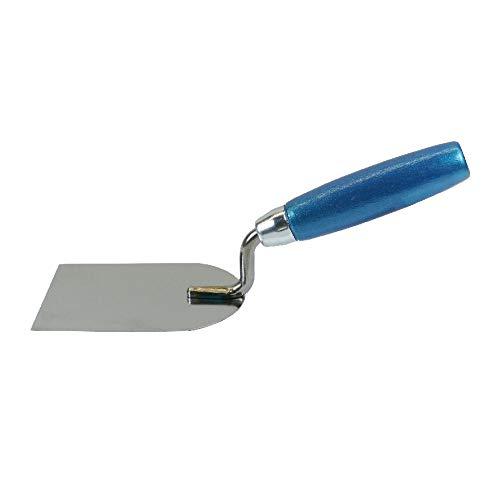 Knauf Kellenspachtel zum Anmischen von Gips-Spachtelmasse – Gipser-Spachtel aus Edelstahl mit Holzgriff zum Anrühren und Verarbeiten von Spachtel-Masse und Pulver, rostfrei