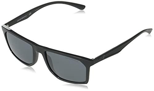 Emporio Armani Occhiali da sole EA4164 54516G occhiali Uomo colore Grigio lente Grigio/Nero taglia 57 mm