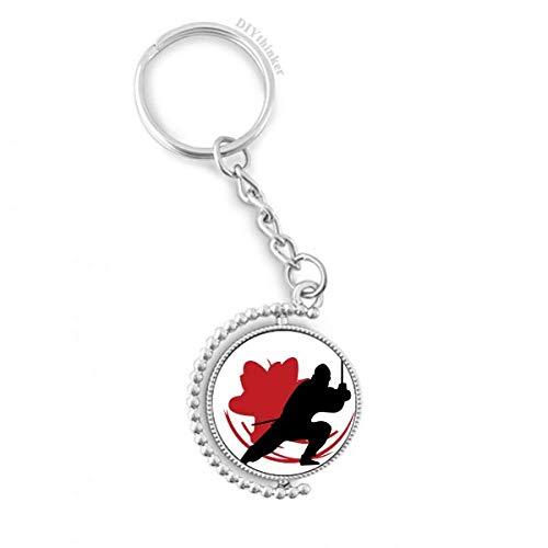 DIYthinker Men Japan Asia Samurai Katana Sakura Action Draaibare sleutelhanger Ring sleutelhouder 1,2 inch x 3,5 inch Multi kleuren