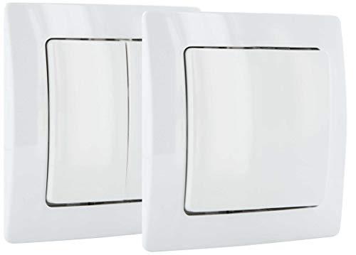 Schwaiger ZHS03 Interruttore da Parete, WiFi, protocollo Z-Wave, Bianco