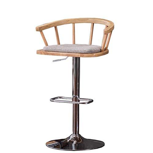NYDZ Taburete de bar, sillas de bar, taburetes de comedor para cocina, isla de cocina, taburetes de bar, exteriores, ajustables y giratorios de gas, reposapiés y base de acero cromado (color B: B)