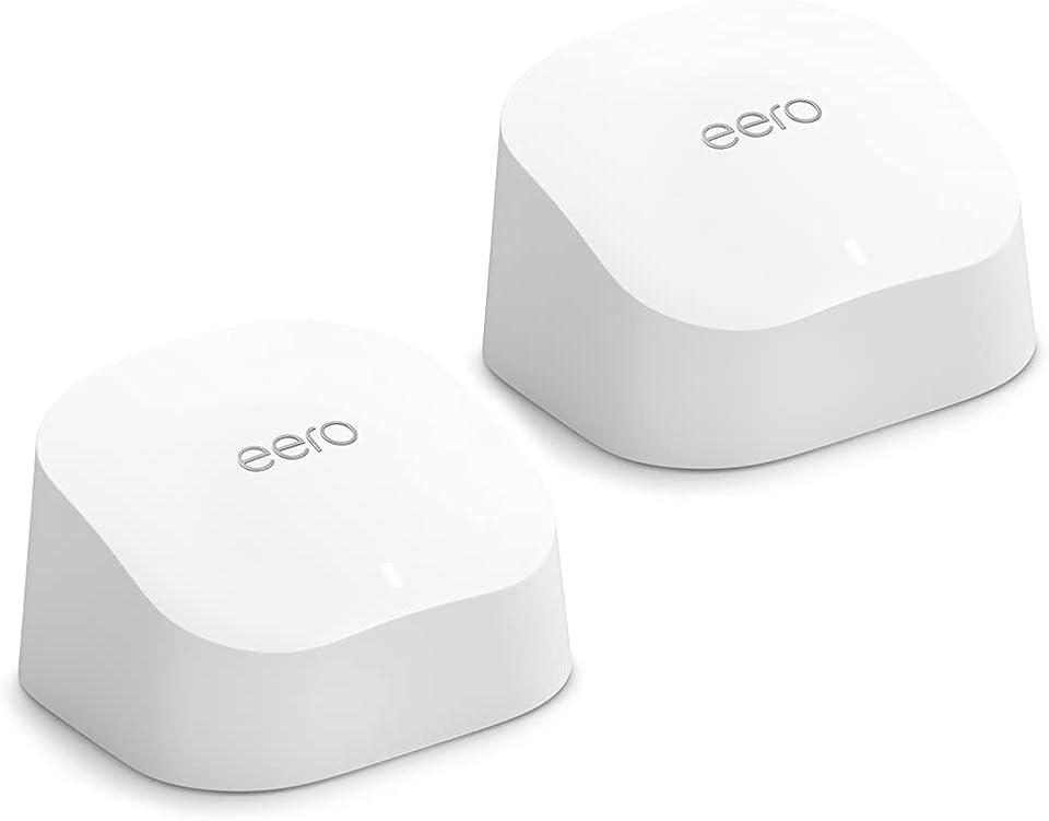 Der neue Dualband-Mesh-Wi-Fi-6-Router Amazon eero 6 mit integriertem Smart Home-Hub von Zigbee | 2er-Set