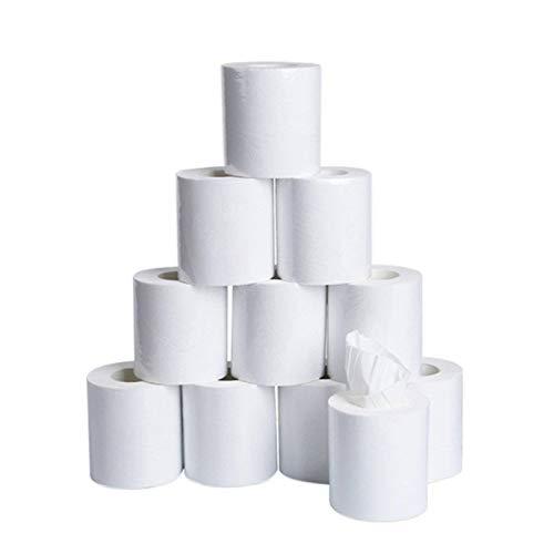 N-B Papel higiénico, Toallas de Papel, Papel higiénico Suave para baño Familiar, Papel higiénico Reciclado Agradable para la Piel, 10 Piezas, 3 Capas
