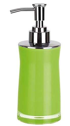 Spirella Seifenspender Sydney | mit Edelstahlpumpe | Flüssigseifen-Spender | Acryl | 200ml | Langliebig und Robust | Grün