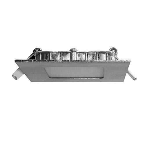 Prilux - Mini Downlight LED 6W Cuadrado Color Níquel de Luz Cálida 830 9X9 cm Referencia 200-2500