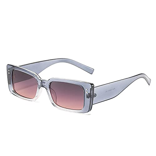 ShZyywrl Gafas De Sol De Moda Unisex Gafas De Sol Rectangulares Vintage para Mujer, Montura Pequeña Retro, Gafas De Sol, Anteojos para Dama, Otros