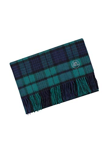 The Tartan Blanket Co. Couverture bébé en Laine d'agneau – Style Tartan écossais Black Watch