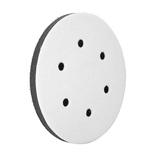 Schleifen Soft Pad, 150mm Durchmesser Soft Buffer Schwamm Interface Kissen Pad für Schleifpads(6 holes)