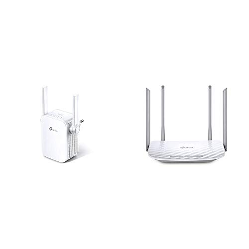 TP Link RE305 AC1200 WLAN Repeater Dual WLAN ACN 1167 Mbits App Steuerung 1 Port 2X Flexible Externe Antennen weis Archer C50 Dualband WLAN Router 300 Mbits 24GHz 867Mbits weis