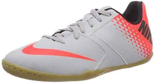 Nike Jr Bomba IC, Scarpe da Calcetto Indoor Unisex-Bambini, Multicolore (Wolf Grey/Black-Bright Crimson 006), 29.5 EU