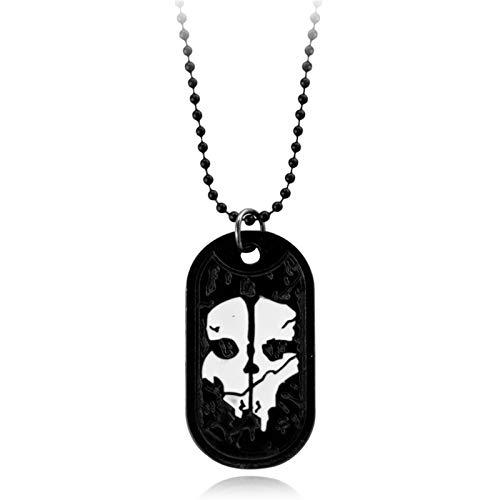 XYBB Collar for Hombre Fantasmas Etiqueta de Perro Colgante del ejército Placa de identificación del ejército for la Serie Militar de Servicio con Armas de Llamada de Llamadas de Regalo de Fans