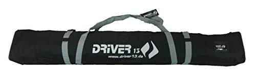 Driver13 ® Skitasche Skisack für Ski Skistoecke, Schitasche zum Aufbewahren und Transport beim Skifahren, Wasserfest 160 cm schwarz-grau
