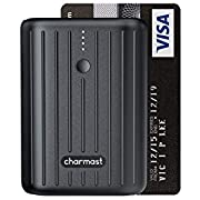 Charmast 10000mAh Mini Power Bank Quick Charge 3.0 USB C Battery Pack PD 18W Power Delivery Portable Charger USB C compatible with iPhone Samsung Huawei Pixel and More