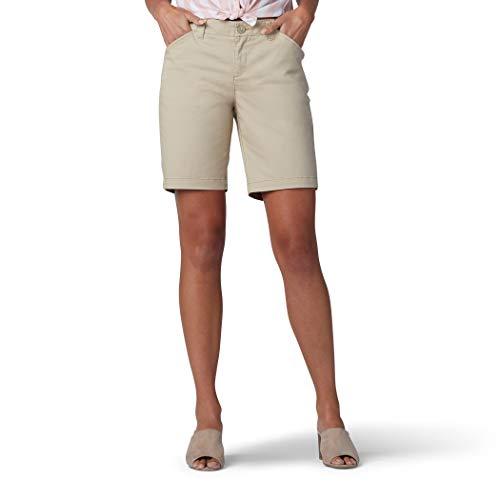 Lee Women's Regular Fit Chino Bermuda Short, Safari, 12