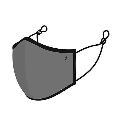 Abbacino Mascarilla unisex de adulto lavable en gris