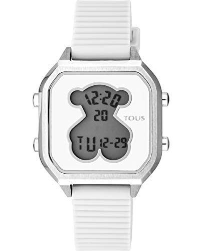 Reloj TOUS Mujer D-Bear Teen Square SS Silicona Blanca - Ref 100350380