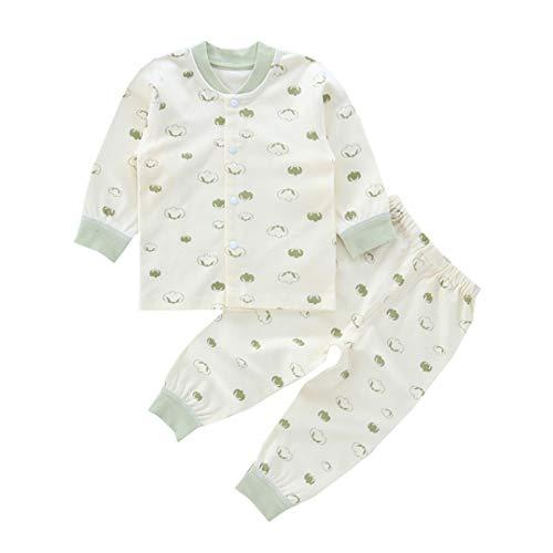 AIKSSOO AIKSSOO Unisex Baby Schlafanzug 2 Stück Sets Langarmshirt mit Hose Size 66 (Green)