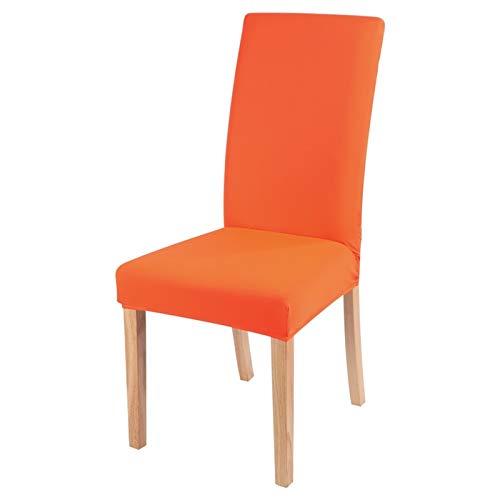 Chair cover Feste Farbstuhlabdeckung Spandex Stretch Elastic Slipcovers Stuhlabdeckungen Für Küche Esszimmer Hochzeit Bankett Hotel 1/2/4 / 6PCS Casual ( Color : Candy orange , Specification : 1pc )