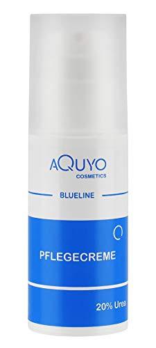 Blueline 20% Urea Creme, Schrundencreme für sehr trockene und verhornte Haut, Pflegecreme bei Schuppenflechte und Neurodermitis, Hornhaut erweicher und Hornhautentferner (100ml)