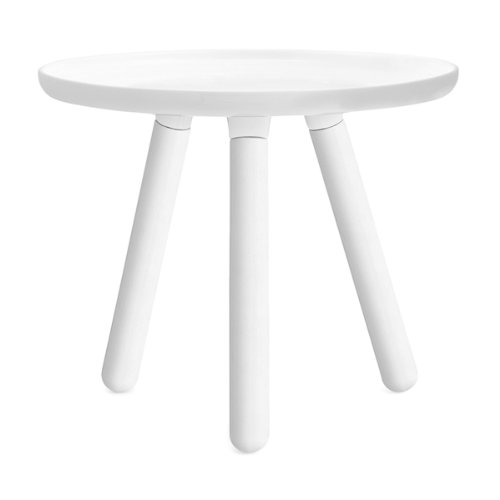 Tablo All White - Table basse ronde blanche