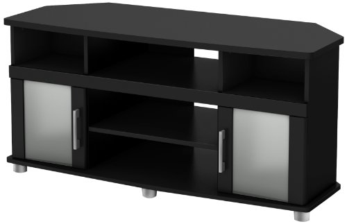 City Life Corner TV Stand - Fits TVs Up to 50'' Wide - Pure Black - by South Shore