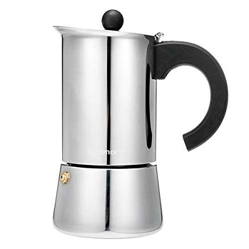 Godmorn Cafetera Italiana,Cafetera espressos en Acero inoxidable430,300ml,6 Tazas(Taza de Expresso = 50ml),Conveniente para...