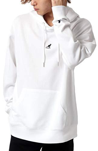 [カンゴール] パーカー メンズ プルオーバー 裏毛 刺繍 ロゴ ホワイト L