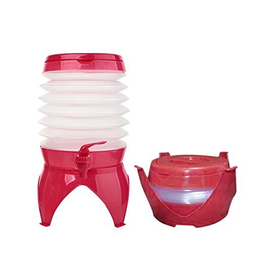 Vecksoy Bidón de agua plegable, 5,5 l, recipiente de agua portátil y plegable, sin BPA, depósito de agua para camping, senderismo, pesca, escalada, picnic, barbacoa, viajes al aire libre