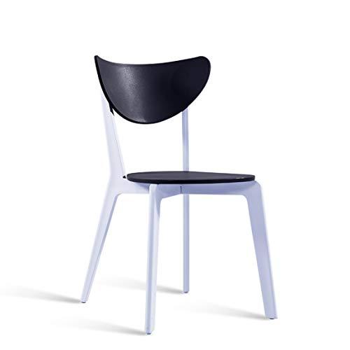 CJH Moderne eenvoudige Nordic eetkamer stoel eenvoudig huishouden commode stoel eetkamer plastic kruk rugleuning zwart