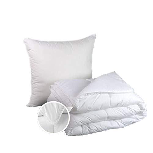 Pack Couette Bien être 140 x 200 cm pour lit 1 Place + 1 Oreiller Confort Moelleux 60 x 60 cm