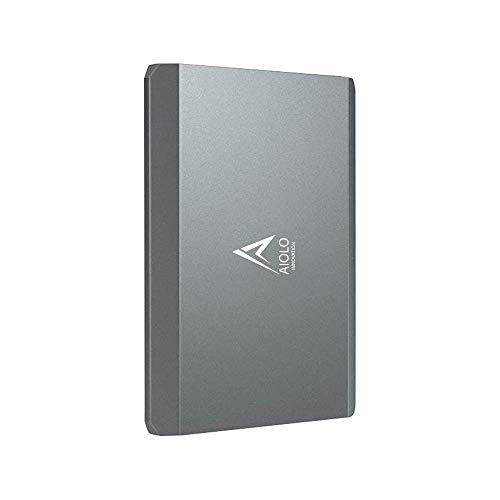 AIOLO 2TB Tragbare Externe Festplatte, Aluminiumlegierung, 2,5 Zoll USB 3.0 Backups HDD Tragbarefür für PC, Mac, TV, Desktop, Laptop, PS4, Xbox
