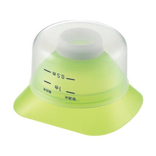 曙産業 ロート グリーン 日本製 ペットボトルを米びつとして使える漏斗 お米の計量・保存・移し替えがこれひとつ 冷蔵庫のドアポケットや野菜室にぴったり収まる 米びつろうと PM-431