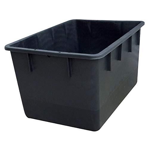 Stapelbehälter aus Polyethylen, konische Bauform - Inhalt 220 l - schwarz - Behälter Behälter aus Kunststoff KLT-Behälter Kasten Konische Behälter Konischer Behälter Kunststoff-Behälter Kunststoff-Stapelkasten Kunststoff-Stapelkästen Kunststoffbehälter