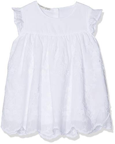 Name It Nbfhirse Spencer Robe, Blanc Bright White, 62 Bébé Fille