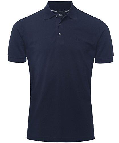 Hugo Boss Polo Poloshirt Regular-Fit Polo ´Ferrara Modern Essential` aus Piqué von BOSS Size: M / 50263587 NAVY Blue
