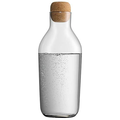 WMF Taverno Wasserkaraffe aus Glas, 1 Liter, Glaskaraffe mit Deckel Karaffe mit Korkdeckel Glas spülmaschinengeeignet