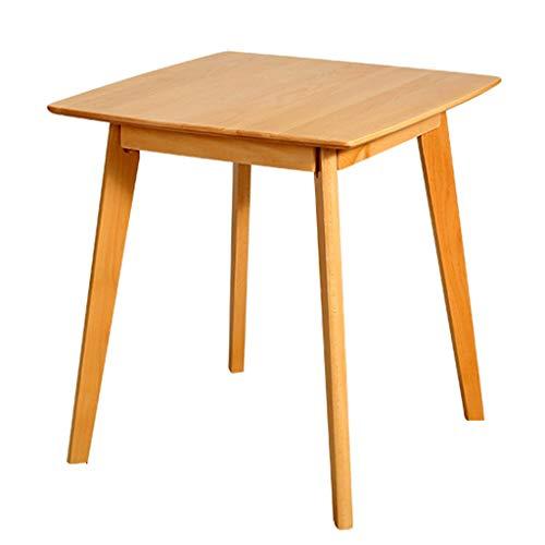 Tables basses Élégante Table De Loisirs en Bois Massif Carrée Simple Table De Salle À Manger De Salon Chambre Table De Salon De Salon Salon Durable (Color : Wood Color)