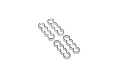 Alphacool 24776 ijskam aluminium X4 plat - 4 mm zilver - 4 stuks Modding ijskam