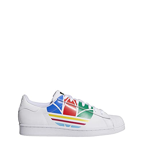 adidas Mens Originals Superstar Pure Casual Shoes Fu9519 Size 11 White/Red/Blue