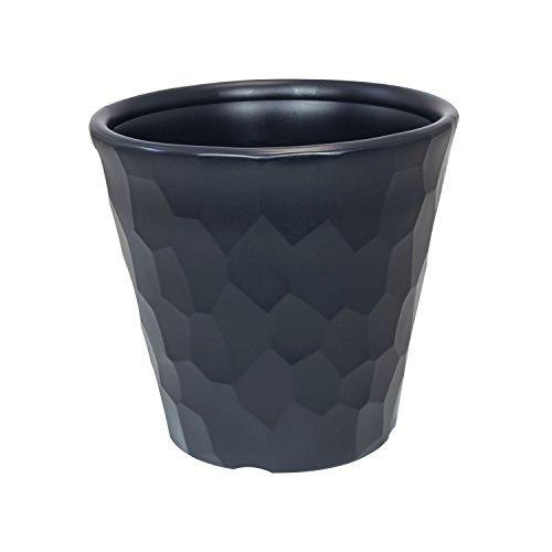 Prosper Plast dbroc350-s433 Pot de Fleurs Rock Anthracite 34,5 x 32,1 cm