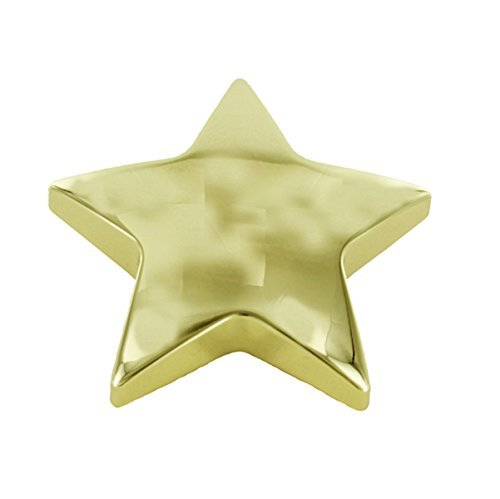 4 Inch Gold Star Paperweight