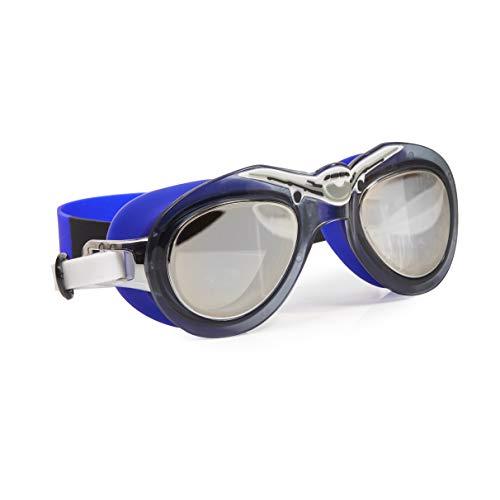 Bling 2O Boys Swimming Goggles 8+ - Blue Aviator Pilot Goggles - Anti Fog/Slip