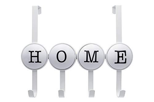 Appendiabiti da porta per Casa, Attaccapanni da Porta Bianco con 4.7 cm di profondità (Home)