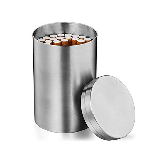 Sarplle Edelstahl Zigarettenetui Mini Kaffeedose Runde Vorratsdose Zigarettendose für Tee, Kaffeebohne, Zucker, Gewürz, Wattestäbchen