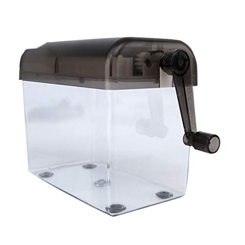 Portable Hand Shredder Office Mini Manual Paper Cut for A6, Folded A4 Portrait, Capacity 1.5L Straight Cut
