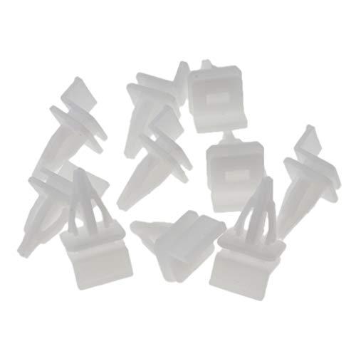 NO LOGO 20pcs Interni Trim Stampaggio Clip Porta Fermo 07.149.158,194 Mila for BMW E46 E90 E91 X5 Porta Laterale della Cornice Grommet con Inserto in Metallo