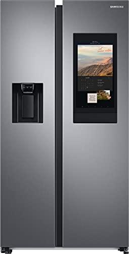 Samsung RS6HA8880S9/EG Side-by-Side-Kühlschrank mit Family Hub, 614 Liter Kühlschrankvolumen, 225 Liter Fassungsvermögen des Gefrierteils, 429 kWh/Jahr, Edelstahl Look